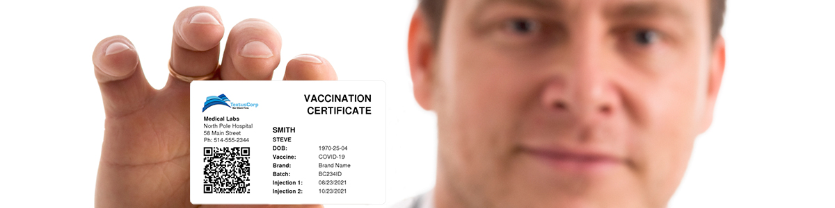 Print COVID test or vaccination certificates